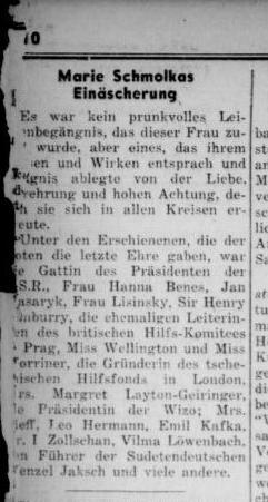 Aufbau 3 May 1940 cremation Marie Schmolka